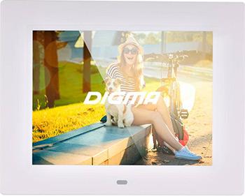 Фото - Цифровая фоторамка Digma 8'' PF-833 белый кеды мужские vans ua sk8 mid цвет белый va3wm3vp3 размер 9 5 43