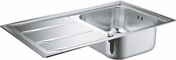 Кухонная мойка Grohe K400 45 -S 87 3/51 3 1.0 оборач 31568SD0 врезная кухонная мойка 87 3 см grohe k400 31568sd0 нержавеющая сталь
