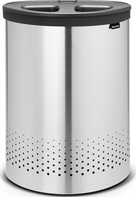 Бак для белья Brabantia 105029 двухсекционный 55л стальной матовый
