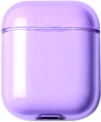Чехол для наушников Apple AirPods 1/2 - Прозрачно-Фиолетовый (CBAP24TRBP)
