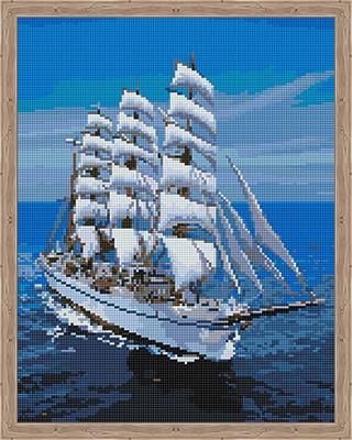 Фото - Алмазная мозаика Цветной ''Белоснежный парусник'' (40х50) на подрамнике qa202358 алмазная мозаика цветной букет нежных цветов 40х50 на подрамнике lg104