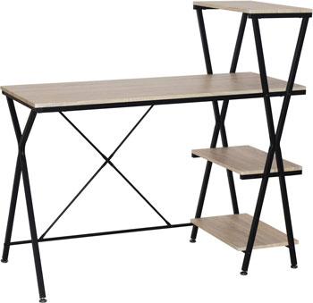 Стол на металлокаркасе Brabix LOFT CD-004 3 полки цвет дуб натуральный 641220 стеллаж на металлокаркасе brabix loft sh 003 ш600 г350 в1500мм 5 полок цвет дуб натурал 641236