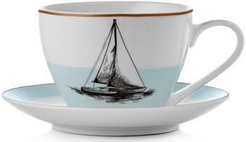 Чайная пара Esprado Regata 315 мл/14 5 см голубой (RGT031BE303)