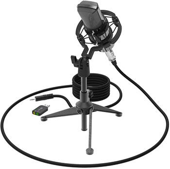 Фото - Микрофон настольный Ritmix RDM-160 Black микрофон ritmix rdm 160 black