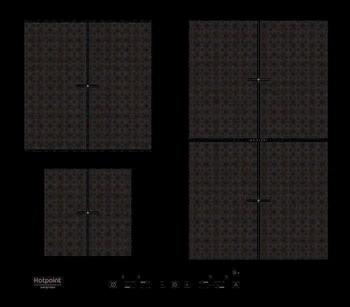 Встраиваемая электрическая варочная панель Hotpoint-Ariston KIT 641 F B индукционная варочная панель hotpoint ariston ikid 641 b f