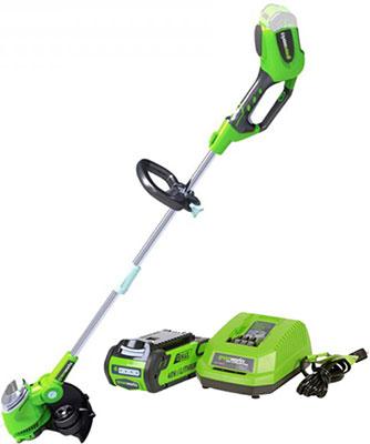 купить Триммер Greenworks 40 V G-max G 40 LT с аккумулятором 2Ah и зарядным устройством 2101507 UA онлайн