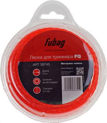 Леска FUBAG L 15 м * 2.4 мм 38745 цена и фото