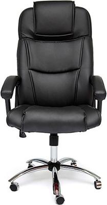 Офисное кресло Tetchair BERGAMO (хром) (кож/зам черный 36-6) кресло офисное руководителя tetchair ch 9944 пластик доступные цвета обивки искусств коричневая кожа