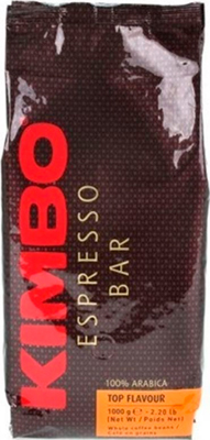 цена на Кофе зерновой KIMBO Top Flavour 100% Arabica 1 кг