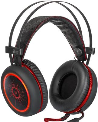 Игровая гарнитура Defender, DeadFire G-530 D черный красный, Китай  - купить со скидкой