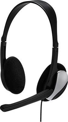Фото - Гарнитура для ПК Hama Essential HS-P100 черный 2м накладные оголовье (00139900) микрофон проводной hama allround 00139906 2м black