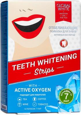 Полоски для отбеливания зубов Global White teeth whitening strips ''7 ДНЕЙ''