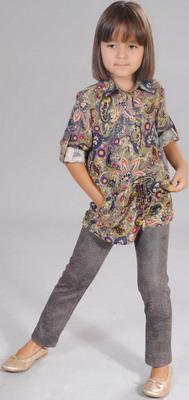 Фото - Брюки Fleur de Vie 24-2181 рост 140 бежевые брюки fleur de vie 24 2182 рост 122 черные