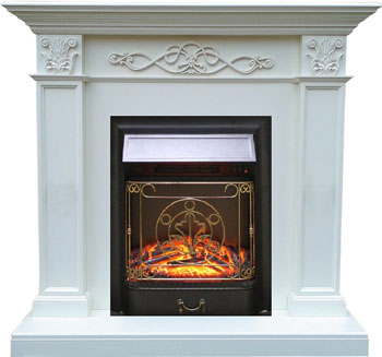 Каминокомплект Royal Flame Verona с очагом Majestic BL бел.дуб каминокомплект royal flame dallas с очагом majestic bl тем дуб