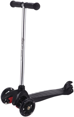 Самокат Sweet Baby 3-х колесный Triplex Light Black самокат 3 х колесный babyhit scooterok черный
