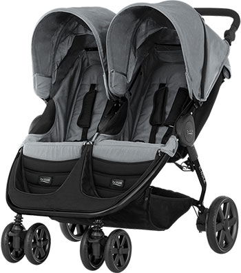 Коляска Britax Roemer B-Agile Double Steel Grey 2000025702 капор для детской коляски britax b agile b motion 4 plus coral peach