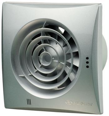 Вытяжной вентилятор Vents 125 Quiet алюм. Лак серебристый вентилятор vents 125