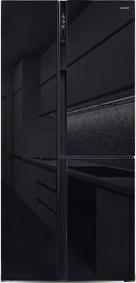 лучшая цена Холодильник Side by Side Ginzzu NFK-610 черное стекло