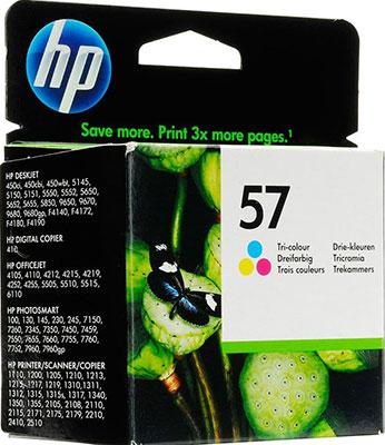 Фото - Картридж HP C 6657 AE (№57) цветной копилка котик цветной керамика 12х9 12 7365 13464 1