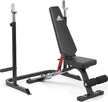 Скамья тренировочная Adidas с рамой для приседаний ADBE-10345 цена 2017