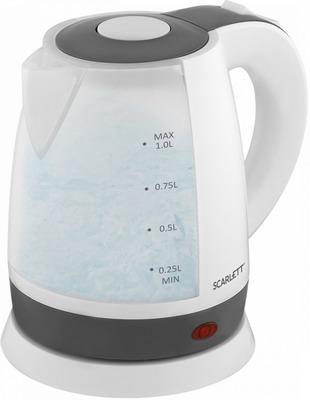 Чайник электрический Scarlett SC-EK18P53 чайник электрический scarlett sc ek18p53 1л 1600вт белый серый корпус пластик