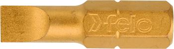 Бита плоская Felo шлицевая серия TiN 5 5X1 0X25 02052070 отвертка felo ergonic плоская шлицевая 5 5x1 0x150 40055510