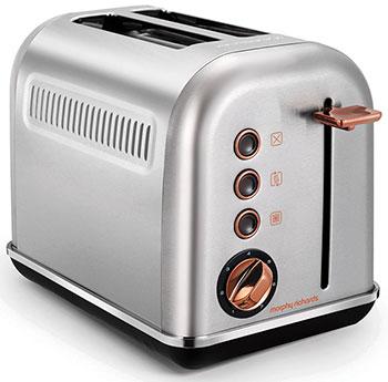 Тостер Morphy Richards Accents Rose Gold Brushed 2 Slice 222017 тостер morphy richards 222017 белый розовое золото