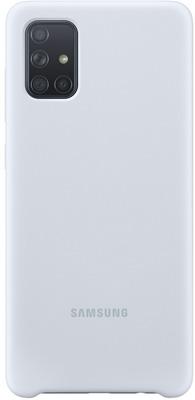 Чехол (клип-кейс) Samsung A71 (A715) SiliconeCover silver (EF-PA715TSEGRU) фото