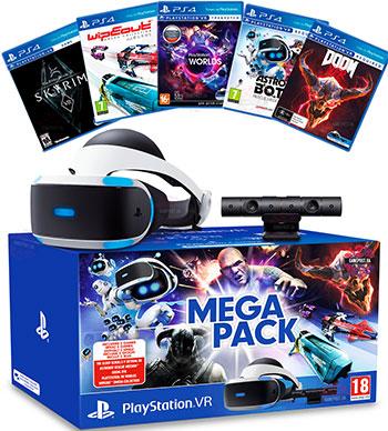 Шлем  виртуальной реальности Sony PS4 PlayStation VR Mega Pack 2 с PlayStation Camera и 5 играми (