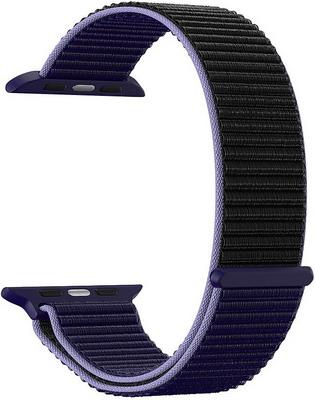 Фото - Ремешок для часов Lyambda для Apple Watch 42/44 mm VEGA DS-GN-02-44-43 Blue-black нейлоновый ремешок для apple watch 42 44 mm lyambda vega ds gn 02 44 6 gray white