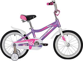 цена на Велосипед Novatrack 16'' NOVARA лиловый алюм. рама 165ANOVARA.LC20