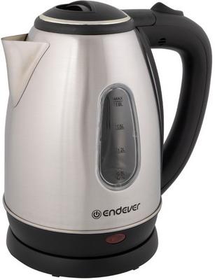 Чайник электрический Endever Skyline KR-220S стальной/черный фото