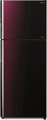 Двухкамерный холодильник Hitachi R-VG 472 PU8 XRZ градиент розово-красного стекло фото