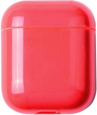 Фото - Чехол для наушников Eva Apple AirPods 1/2 - Прозрачно-Красный (CBAP24TRR) домашние тапочки coqui eva
