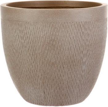 Напольный горшок для цветов Идеалист Lite Лотус файберстоун серо-коричневый Д26.5 В24.5 см 13 л MESHR26-T