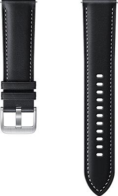 Кожаный ремешок Samsung Stitch Leather Band для Galaxy Watch3 (41мм)/Watch (42мм)/Watch Active2/Active чёрный (ET-SLR85SBEG megir watch men s fashion square leather calendar sports fashion big dial watch men 2040