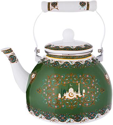 Чайник Agness эмалированный серия сура 4 л цвет зеленый 934-321 agness чайник винтаж 2 2 л пионы
