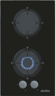 Встраиваемая газовая варочная панель Simfer H 30 N 20 B 512 встраиваемая газовая варочная панель simfer h 60 n 40 w 412