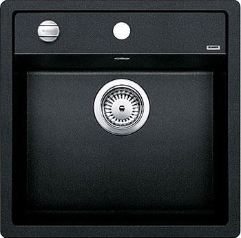 Кухонная мойка BLANCO DALAGO 5 SILGRANIT антрацит с клапаном-автоматом кухонная мойка blanco dalago 8 silgranit кофе с клапаном автоматом