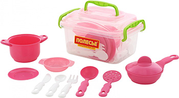 Фото - Набор Полесье детской посуды (35 элементов) (в контейнере) набор полесье infinity premium 1 цвет в ассортименте