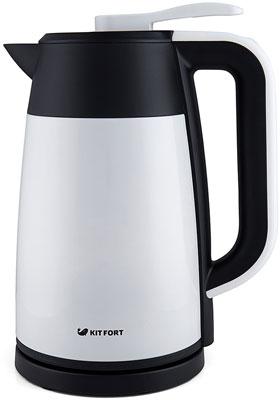 лучшая цена Чайник электрический Kitfort КТ-620-1 белый