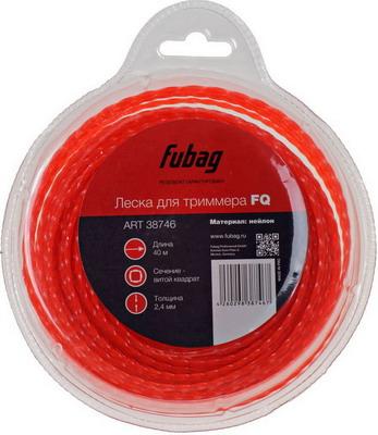 Леска FUBAG L 40 м * 2.4 мм 38746 леска плетеная power pro цвет зеленый 135 м 0 41 мм 40 кг