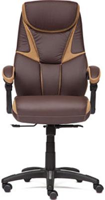 Кресло Tetchair CAMBRIDGE кож/зам/ткань коричневый/бронзовый 36-36/21 цены