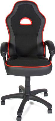 Кресло Tetchair SHUMMY (кож/зам ткань черный красный PU 36-6/PU 36-161/3K-11) цена