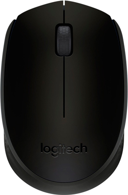 Мышь Logitech Wireless Mouse B 170 Black (910-004798) цена
