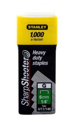 цена на Скоба для степлера Stanley 6 мм тип ''G'' (4/11/140) 1000шт 1-TRA 704 T