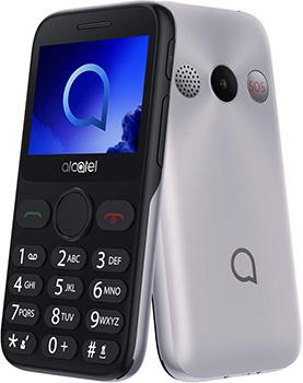 Мобильный телефон Alcatel 2019G серебристый телефон alcatel 2019g серый металлик