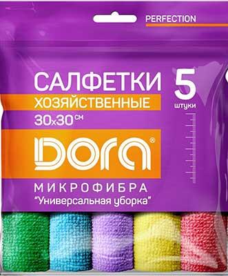 Для ручной очистки поверхностей Dora Набор салфеток из микрофибры ''Универсальная''