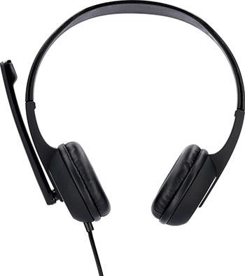 Фото - Гарнитура для ПК Hama Essential HS-P150 черный/серебристый 2м мониторные оголовье (00053982) микрофон проводной hama allround 00139906 2м black