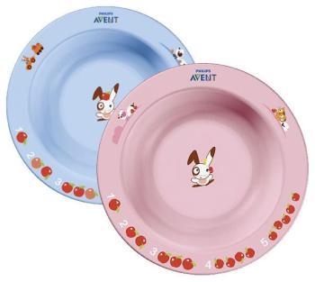 Тарелка глубокая Philips Avent SCF 706/01 розовая голубая